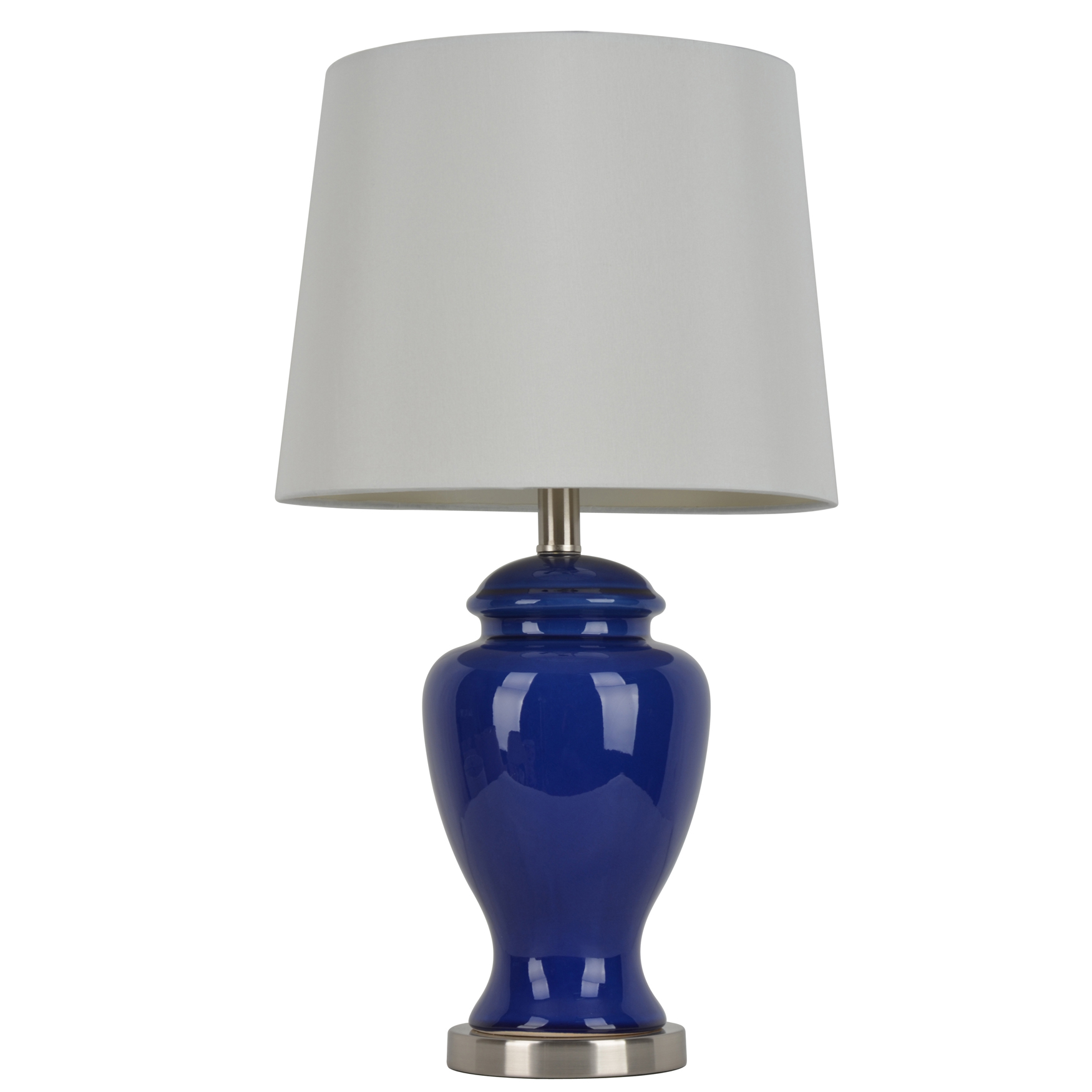 24' Blue Ceramic Table Lamp, BLUE