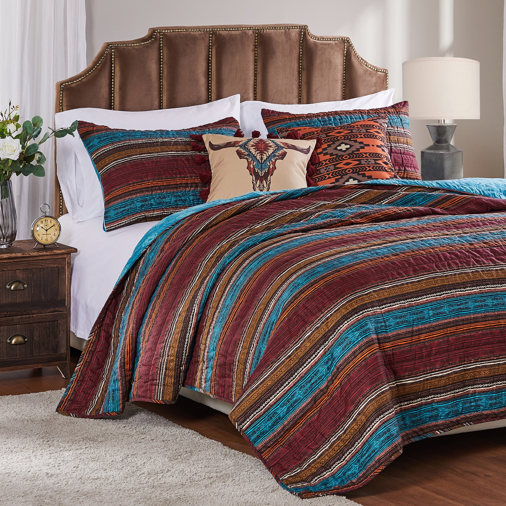 Tucson Coffee Quilt Set by Barefoot Bungalow,