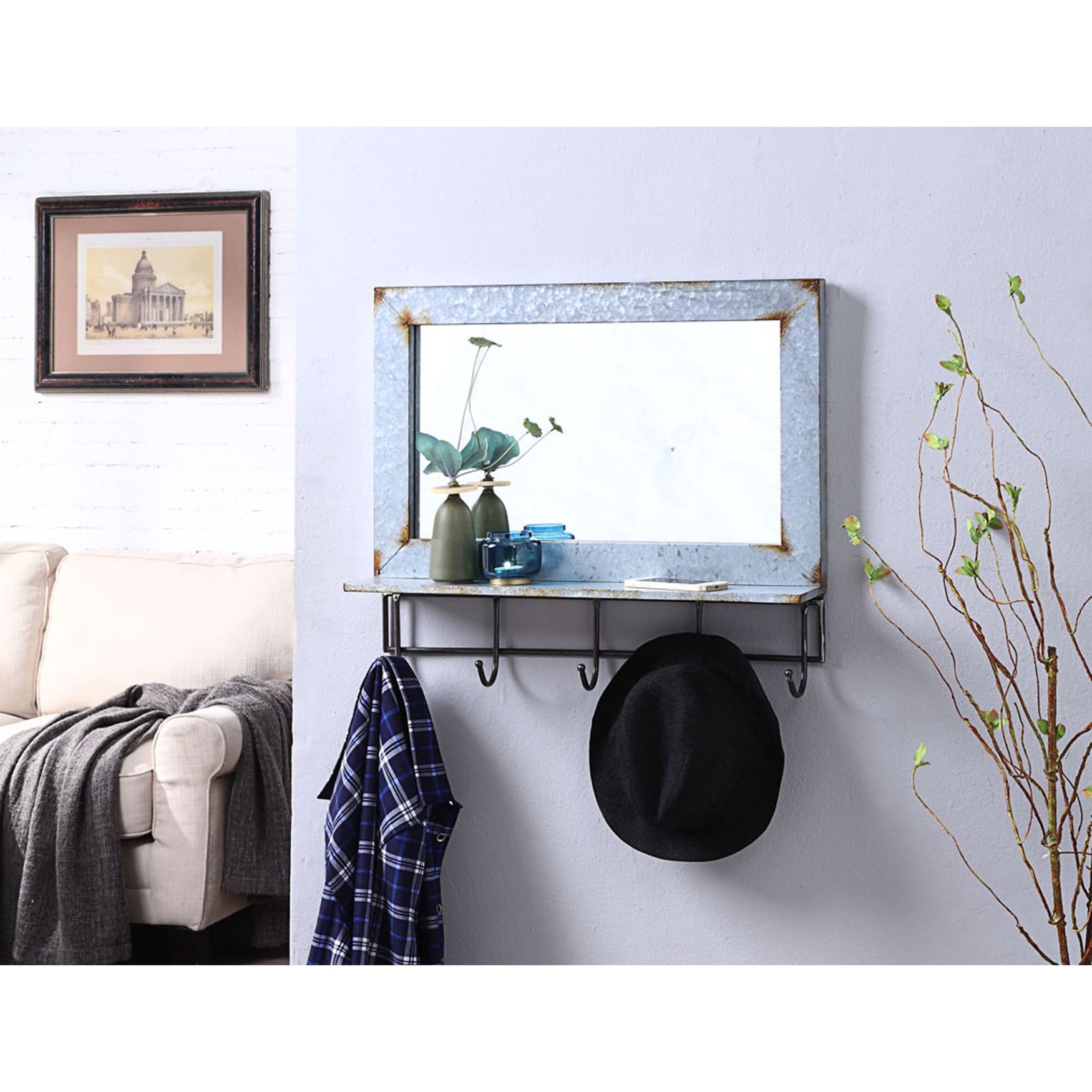 Abbey Collection Mirror , RUSTIC BLACK
