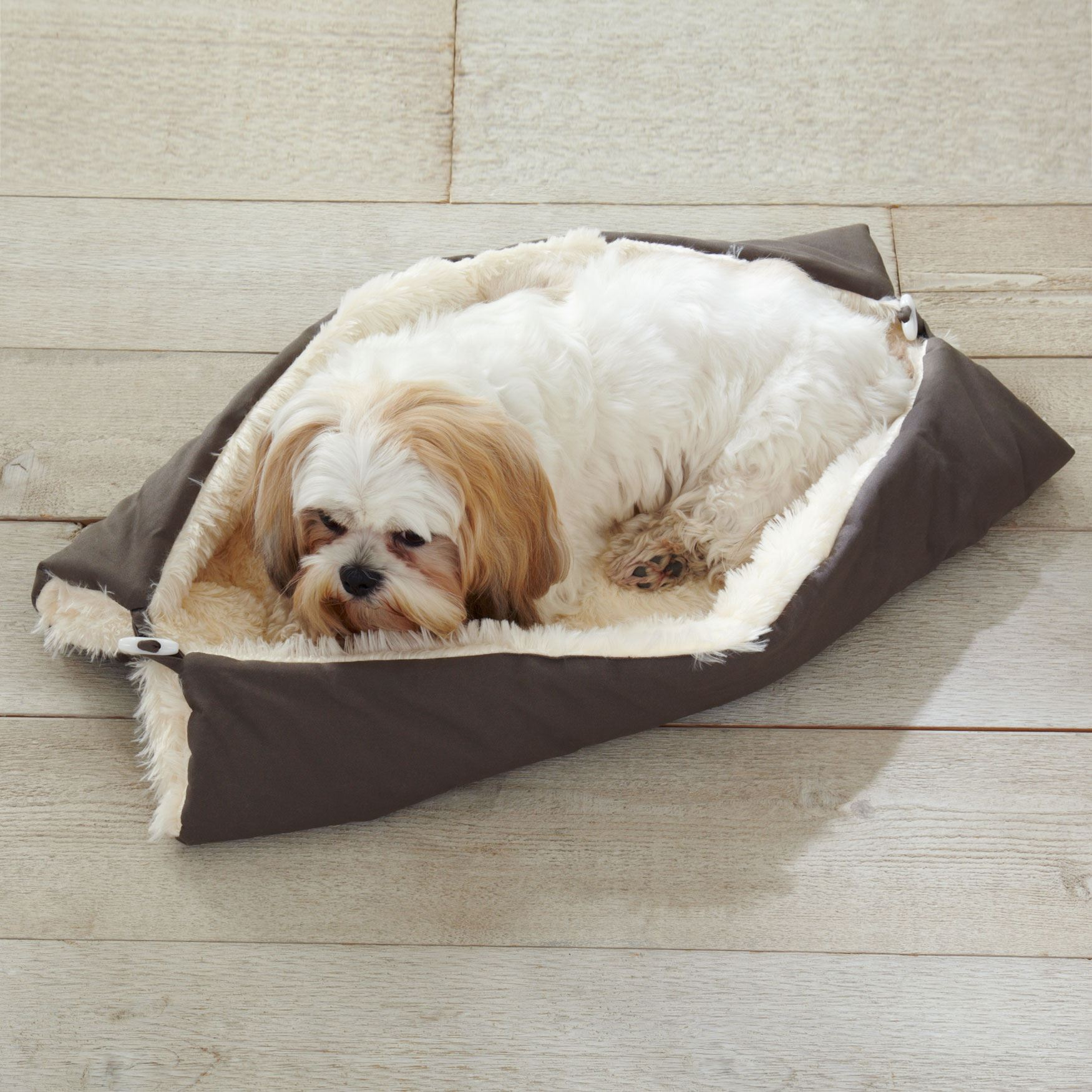 Multi-Position Pet Bed, BROWN