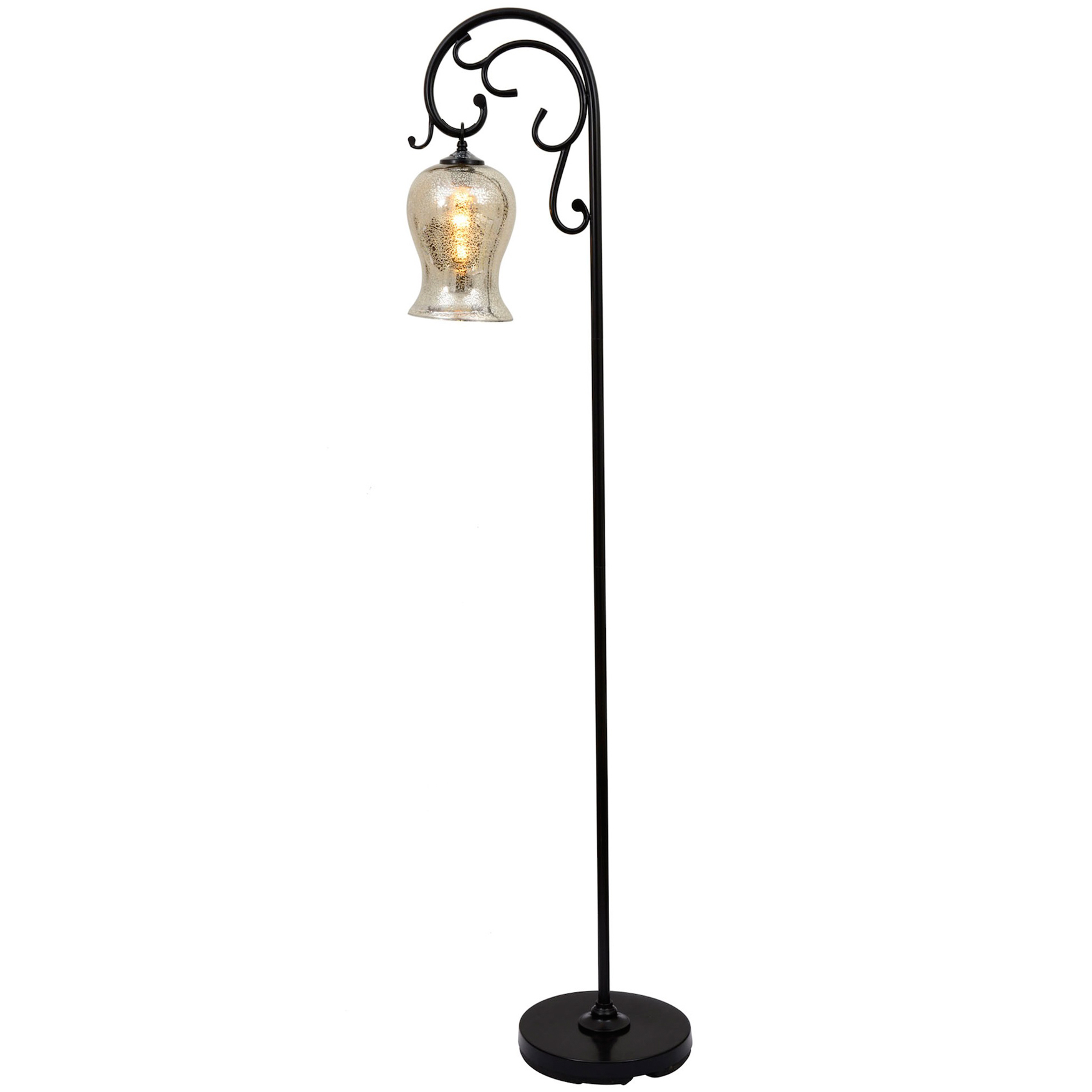 "64"" Textured Bronze Floor Lamp, BRONZE"