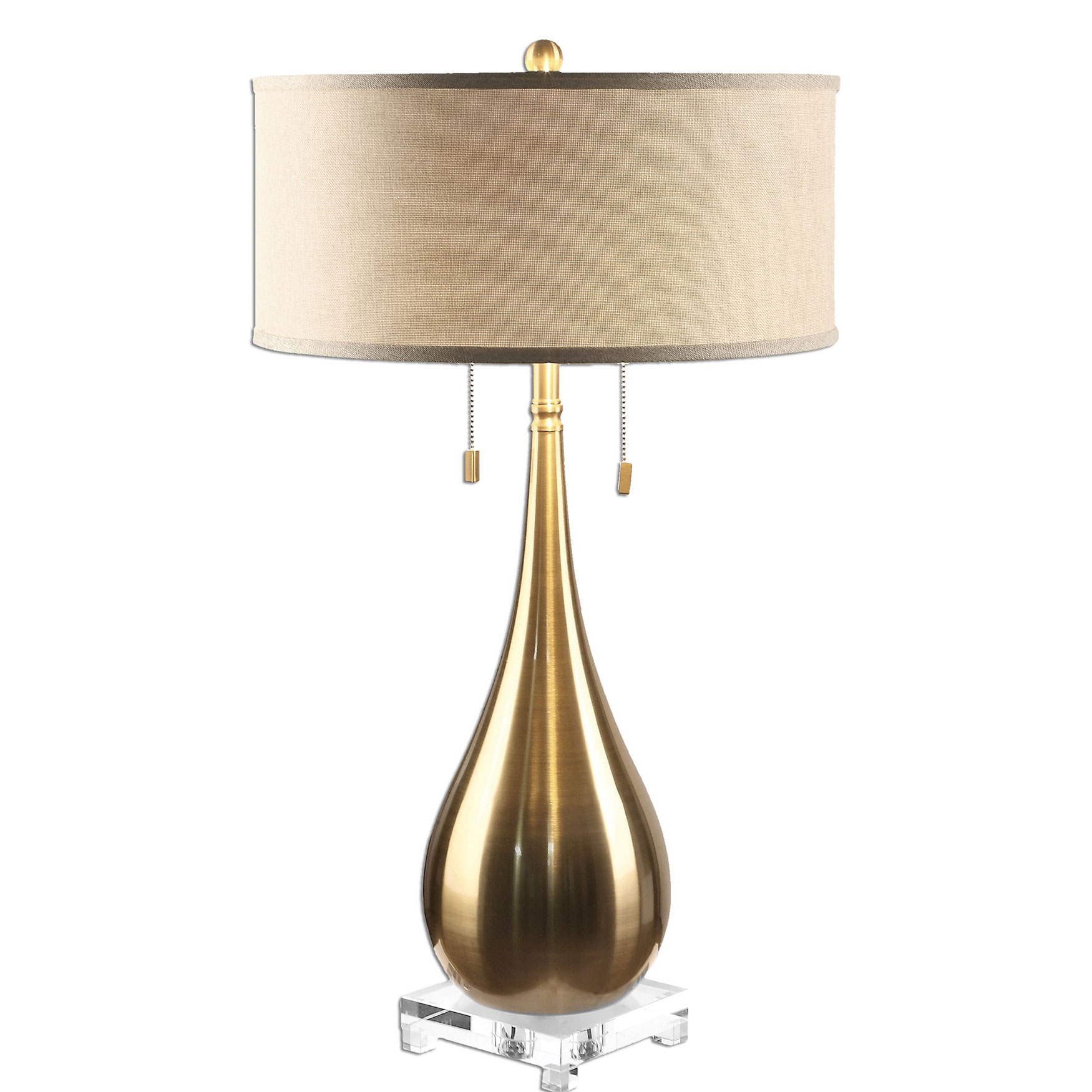 Lagrima Brushed Brass Lamp, BRASS