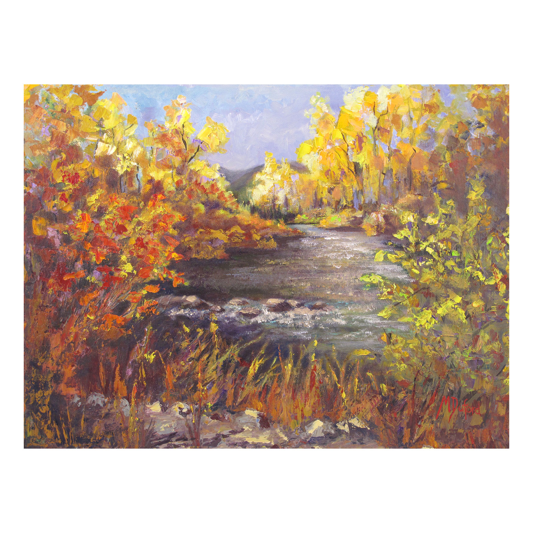 River Rapture Outdoor Canvas Art, MULTI
