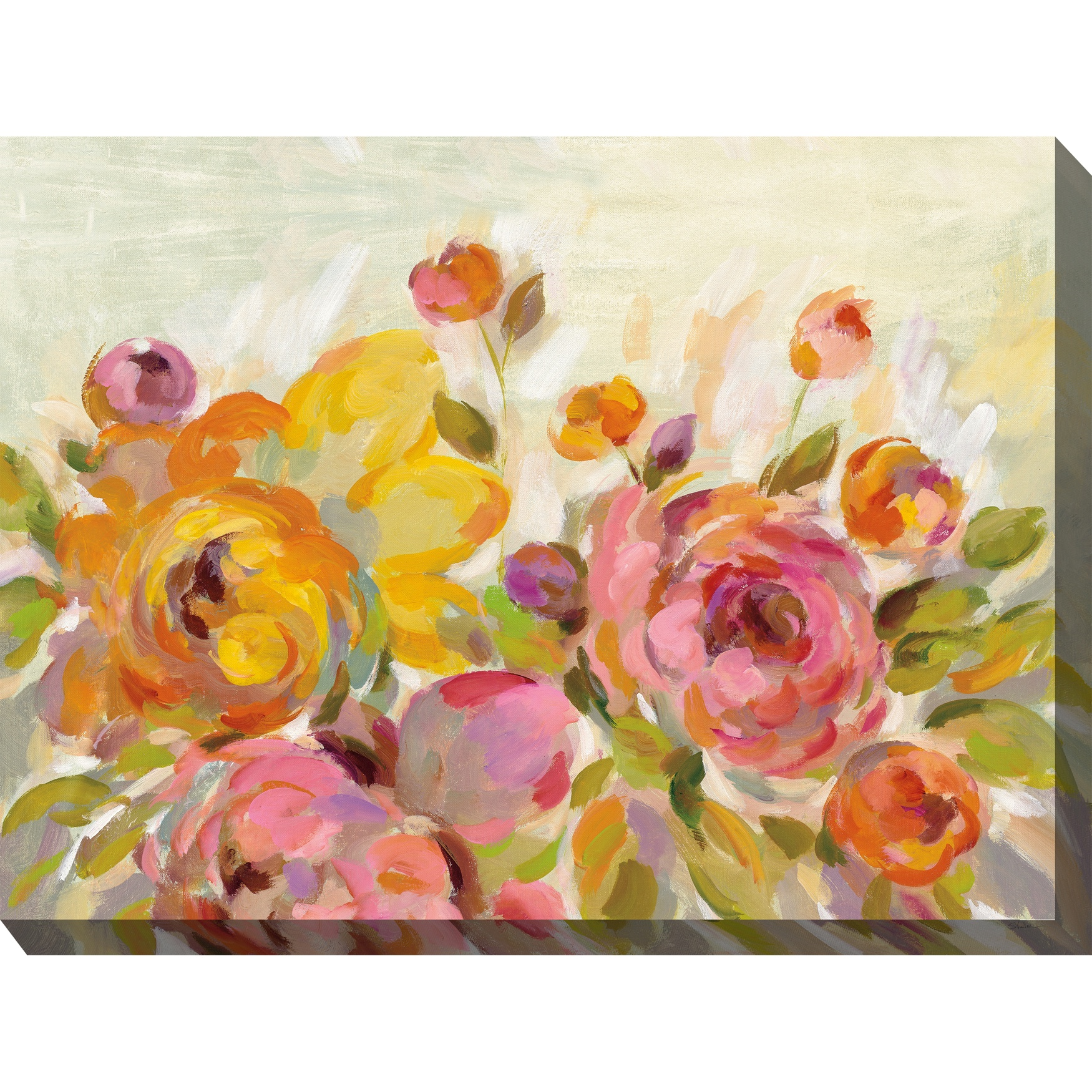 Blooming Color Outdoor Wall Art, MULTI