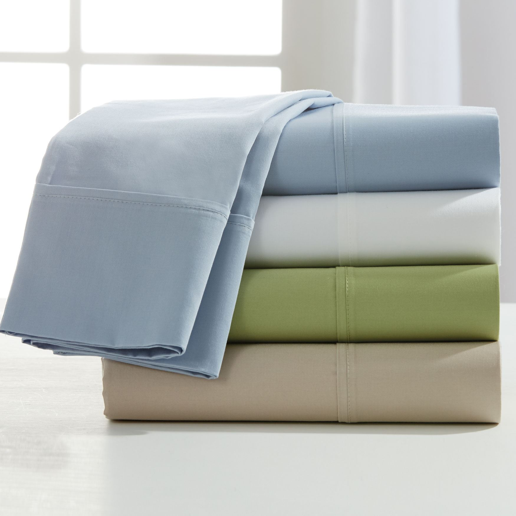 Forever Soft™ 400-TC Wrinkle Free Cotton Sheet Set,