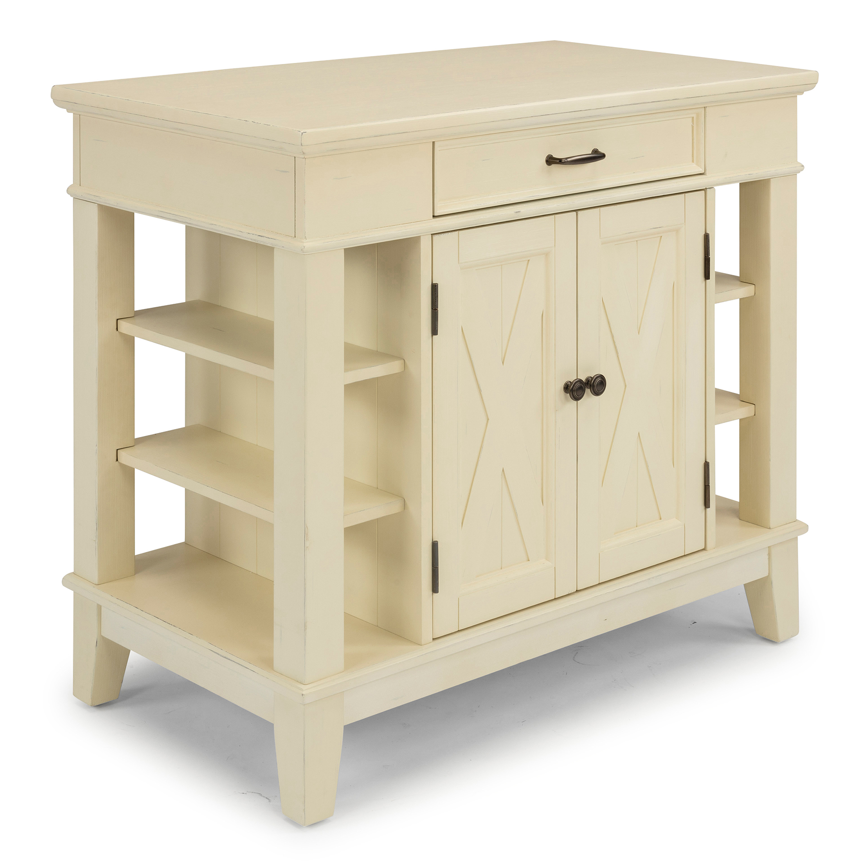 Seaside Lodge Kitchen Island by Home Styles, WHITE