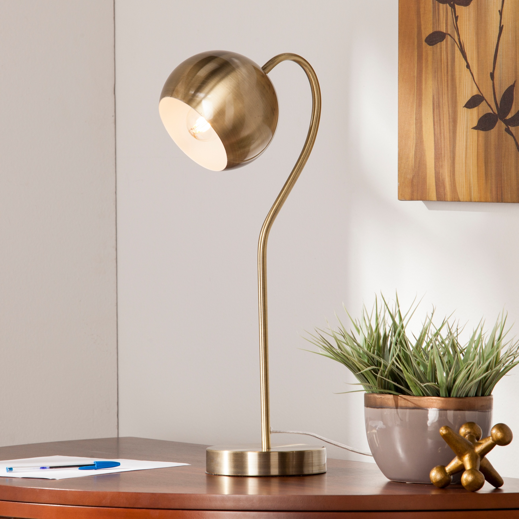 Parklyn Gooseneck Table/Desk Lamp, BRASS