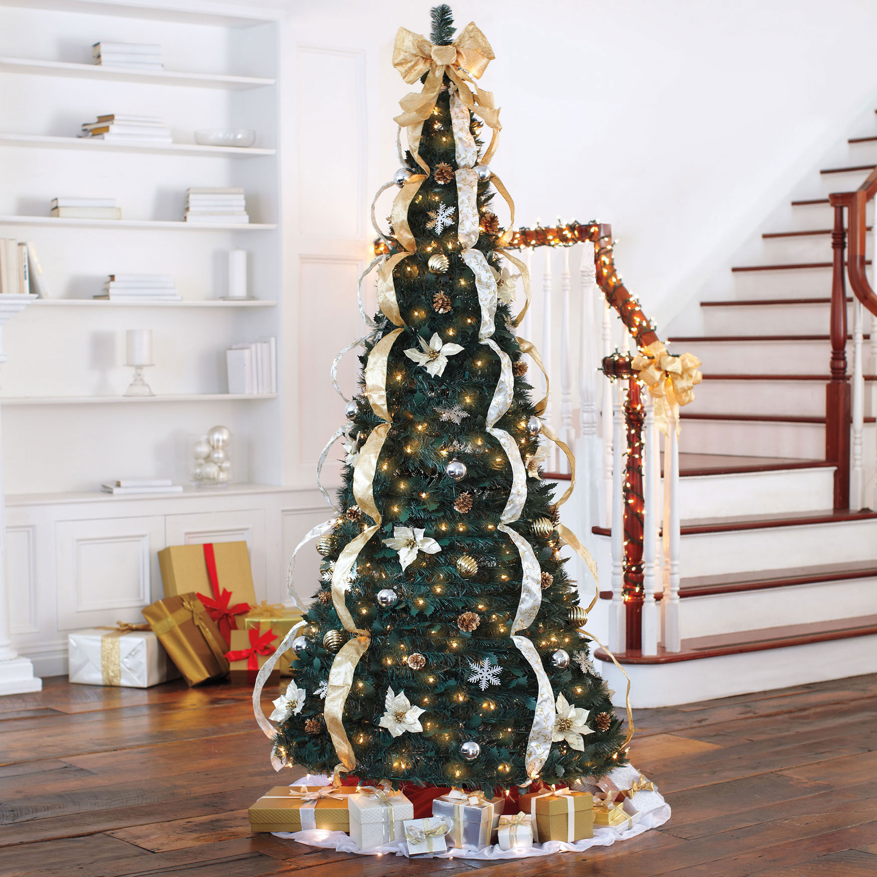 Pop Up Christmas Tree Video: 7½' Deluxe Pop-Up Christmas Tree