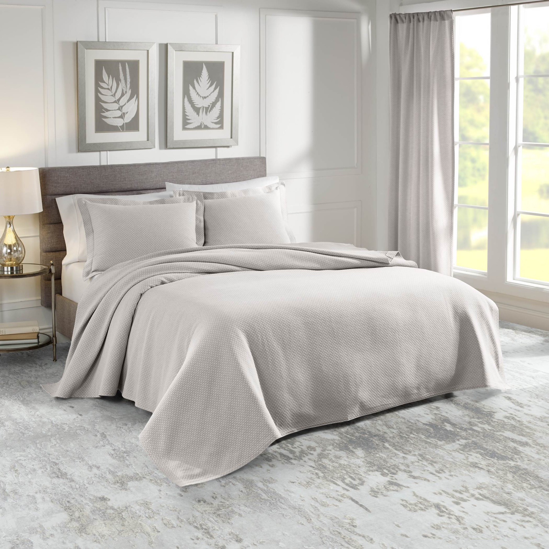Sunset European Matelassé Coverlet Set,