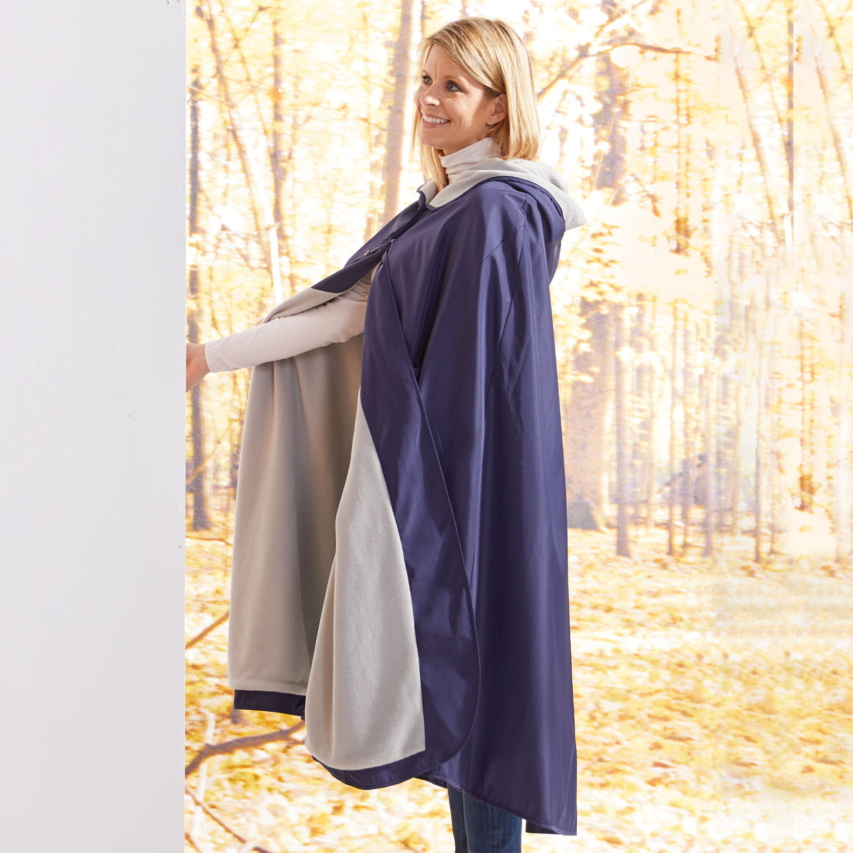 Hooded Blanket, NAVY