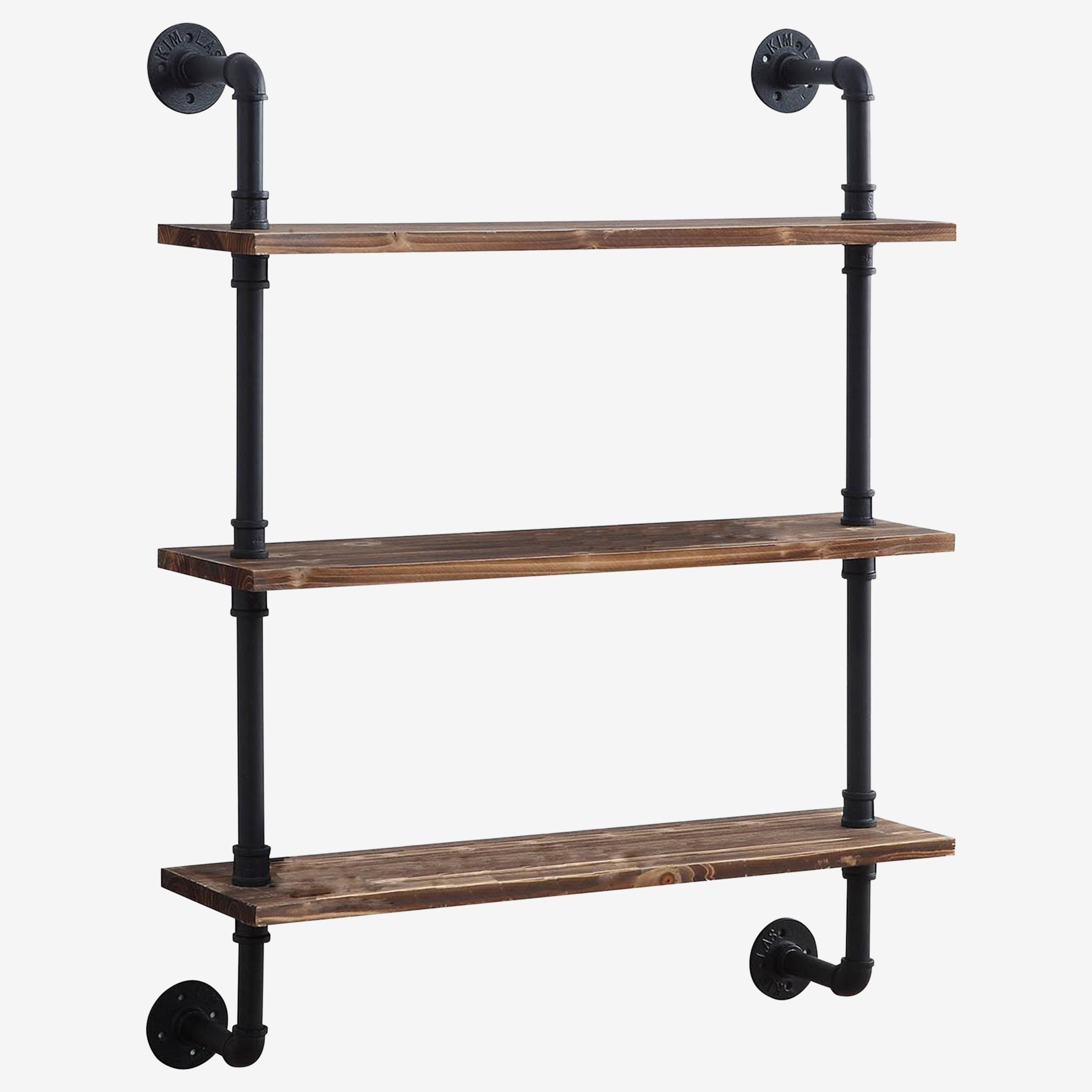 Anacortes Three Shelf Piping, BLACK