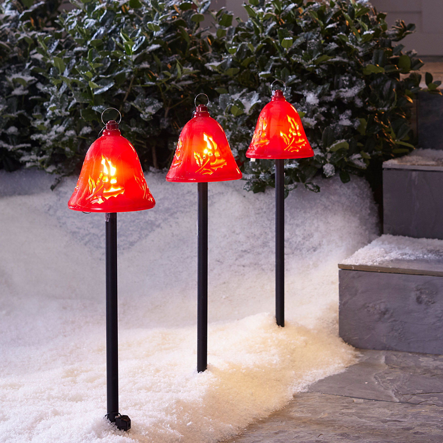 Musical Pathway Bells, Set of 3, RED