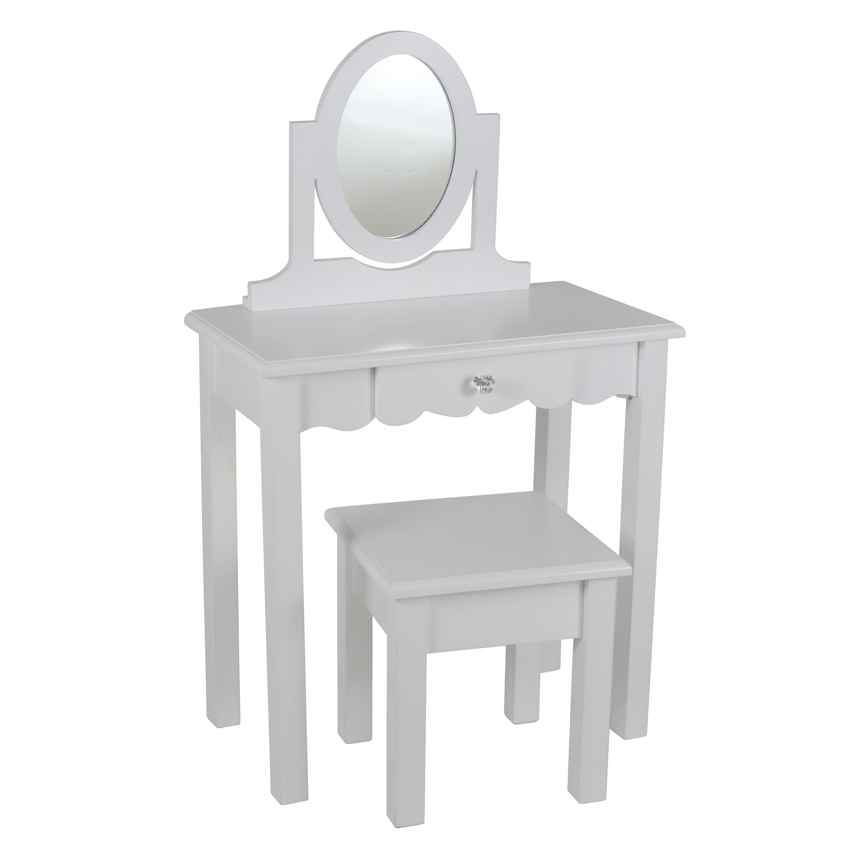 White Vanity with Mirror by J. Hunt, WHITE