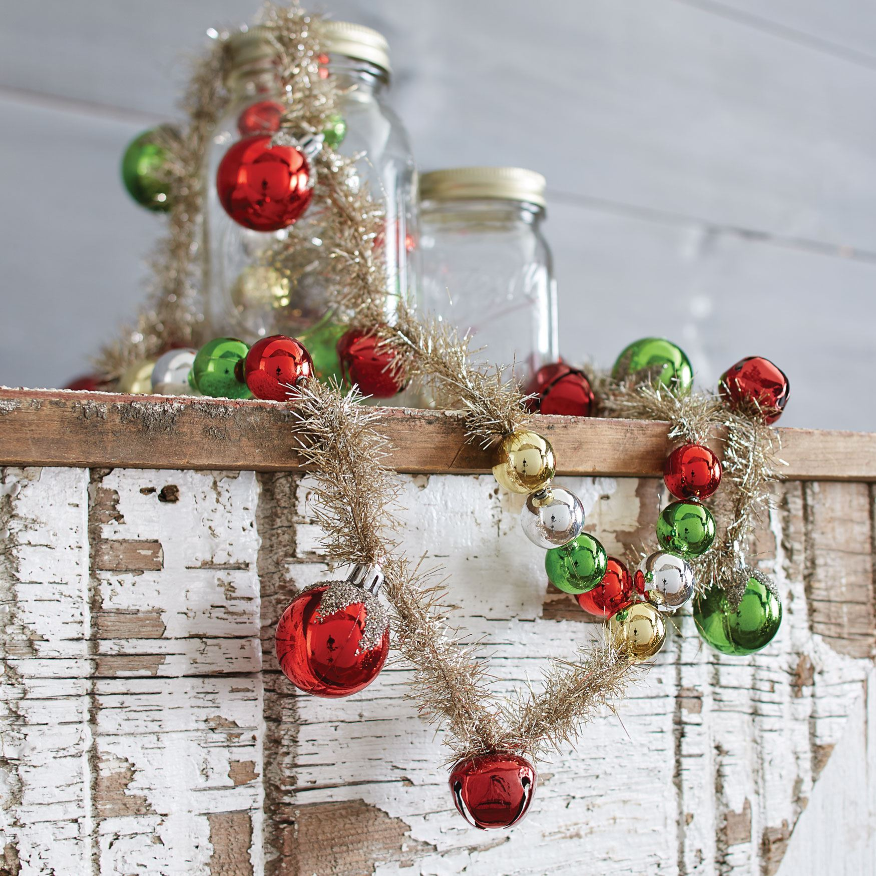 6' Tinsel Bell Garland, MULTI