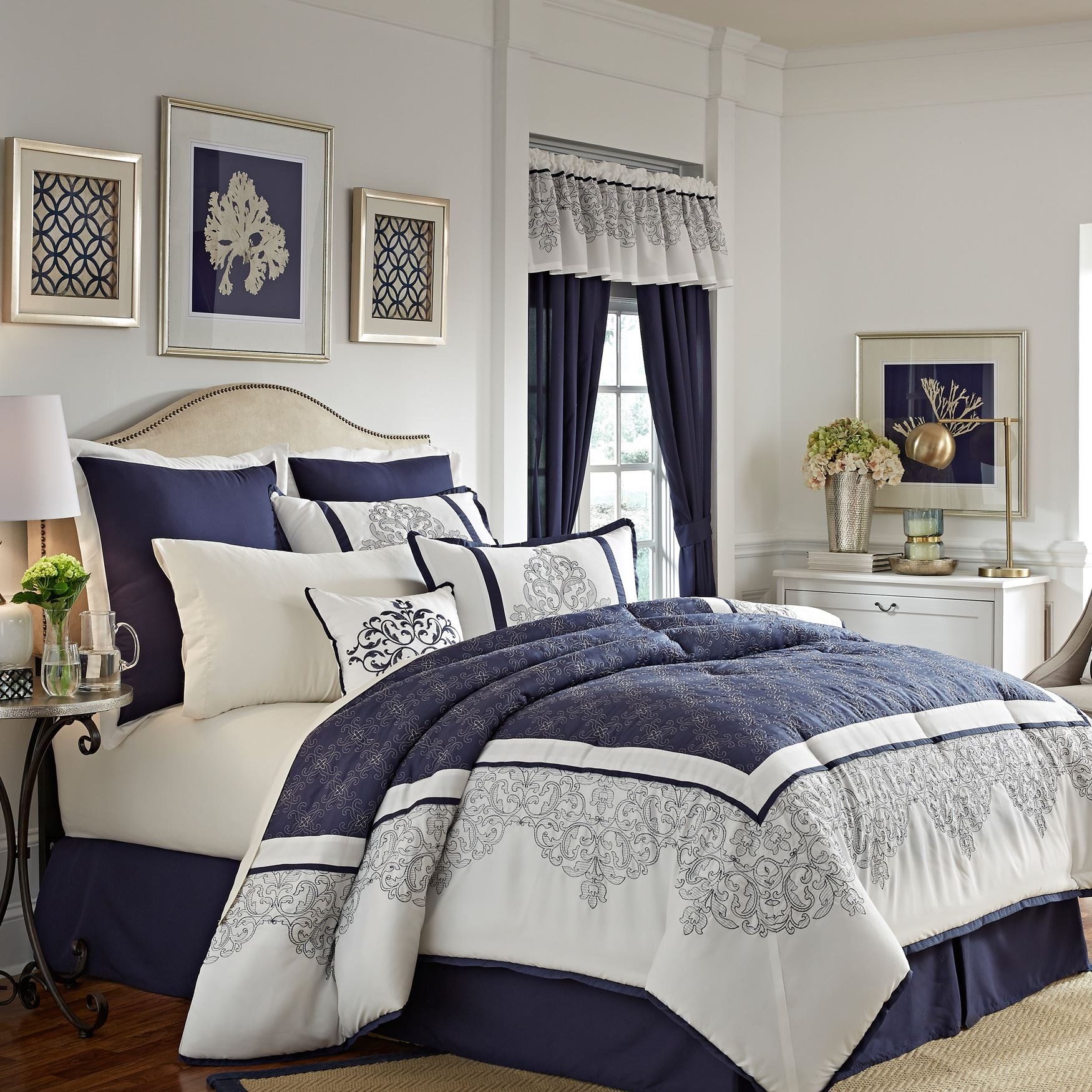 Victoria 8 Pc Comforter Set Bedding Brylane Home