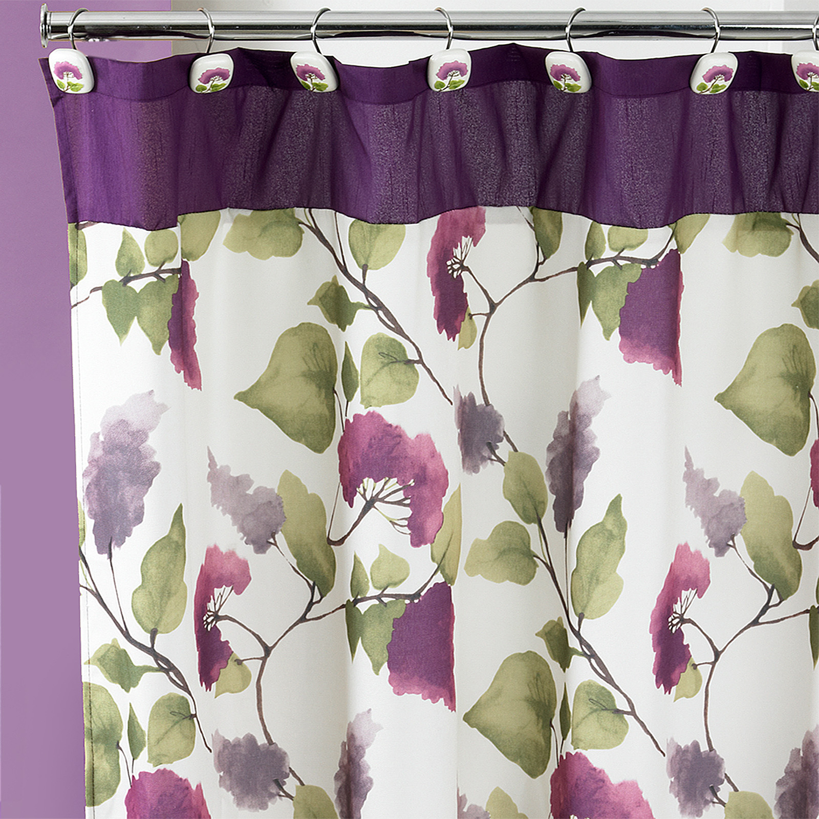 Jasmin Shower Curtain, PLUM