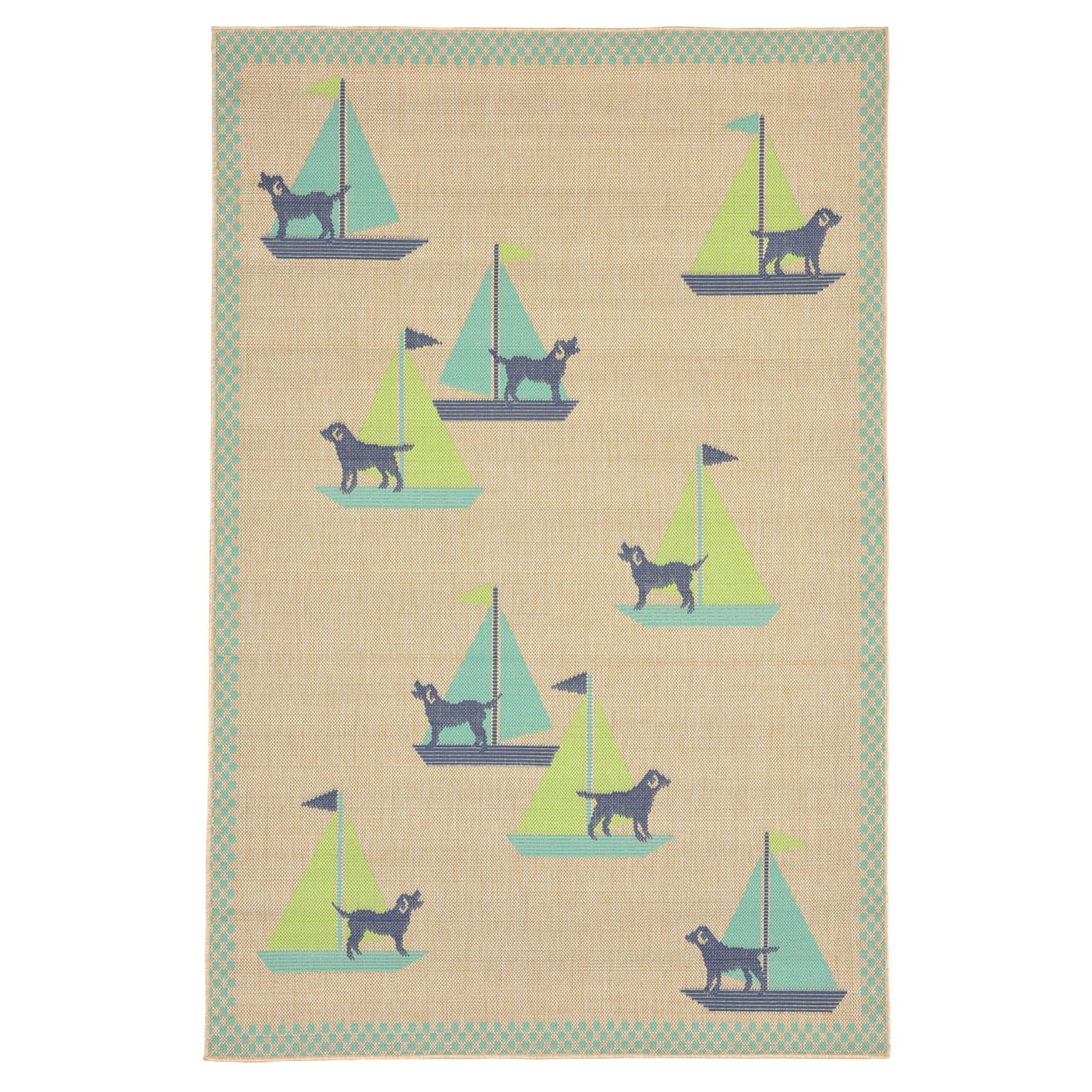Captain Pup Indoor/Outdoor Rug,