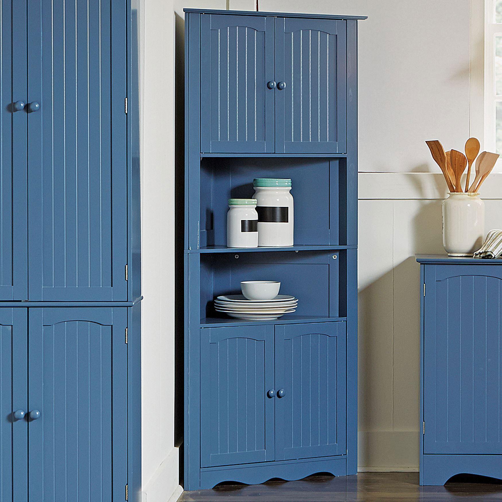 Brylanehome Country Kitchen Corner Cabinet Blue