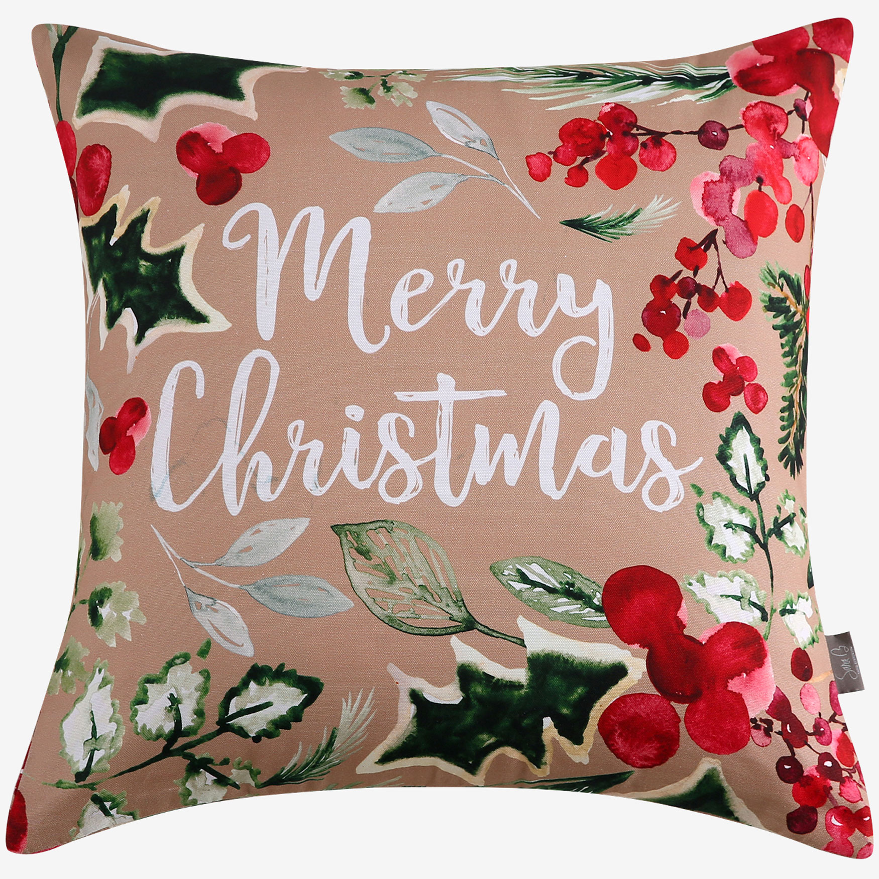 Merry Christmas Decorative Pillow, MULTI