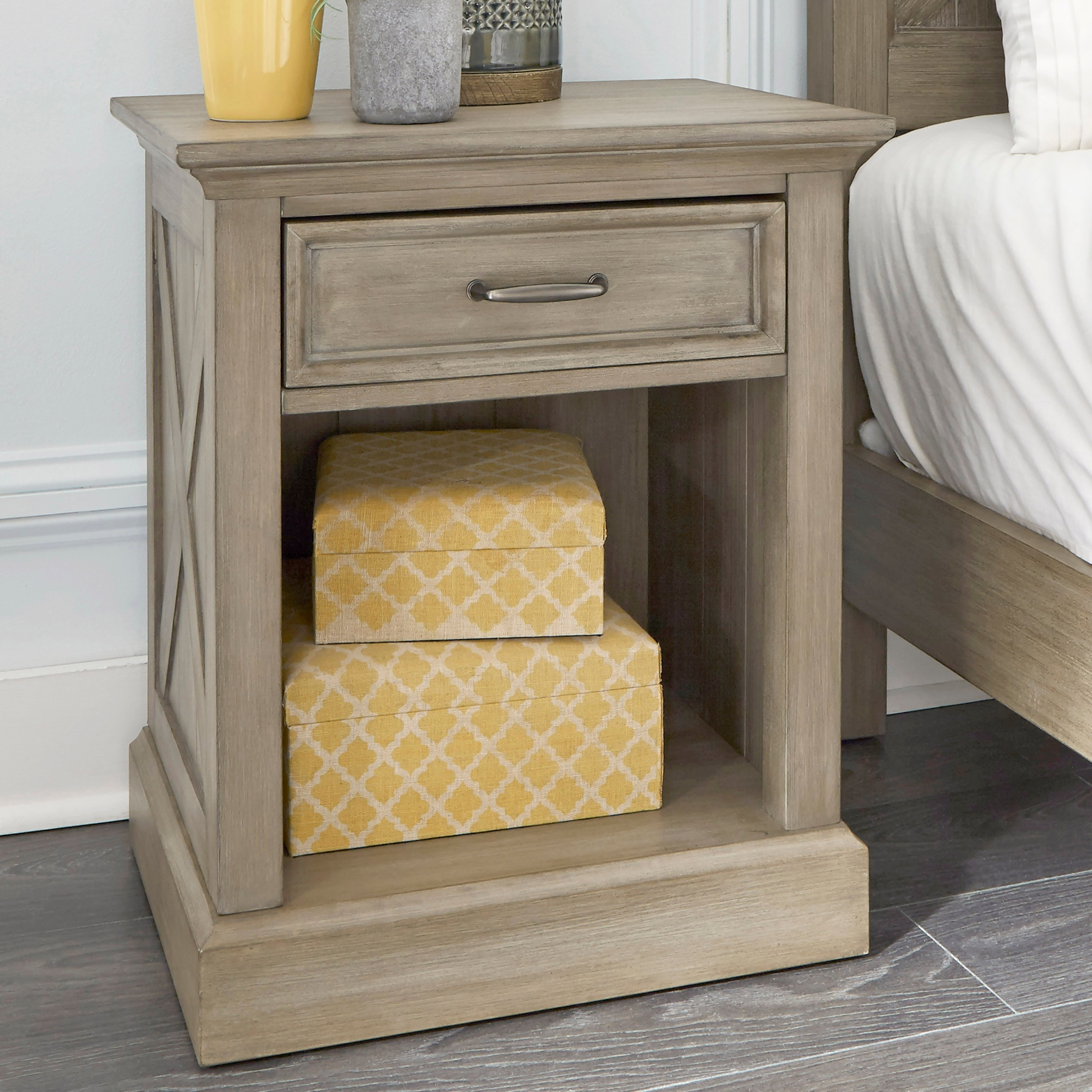 Mountain Lodge Nightstand by Home Styles, MULTI GRAY