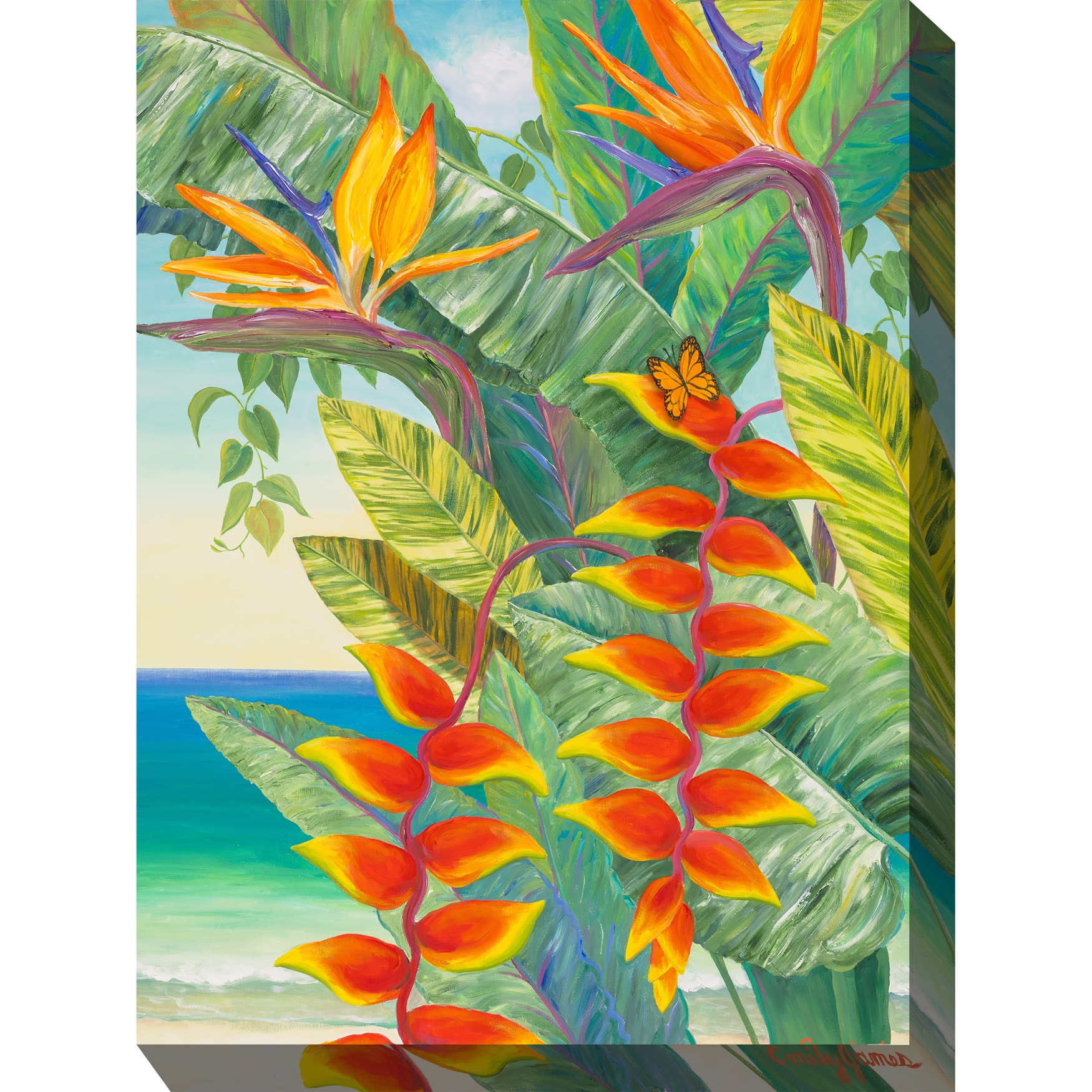 Hot Tropic #2 Outdoor Wall Art, MULTI