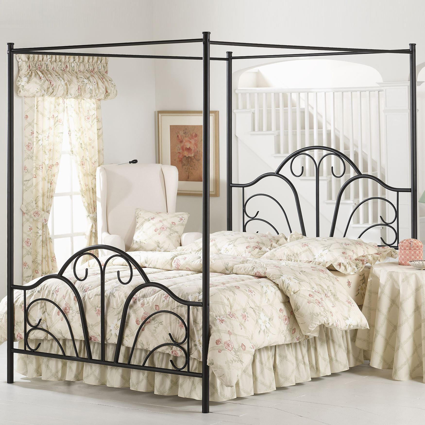 Queen Bed with Bed Frame, 83½'Lx60¾'Wx81'H,