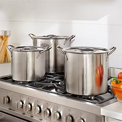 shop 6 pc. stainless steel stock pot set