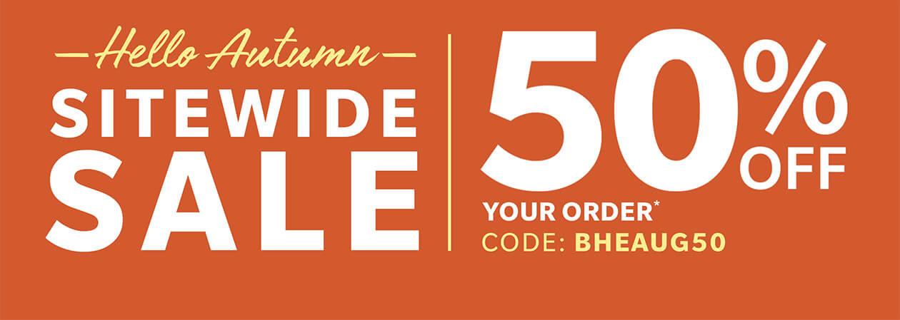 Shop Hello Autumn Sitewide Sale