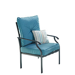Deep Seating Steel Slat Chair