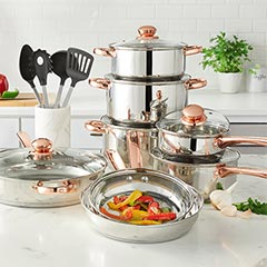 shop 18-PC. Stainless steel cookware
