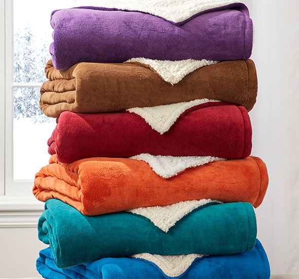 shop blankets & throws